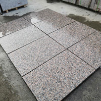 red granite paving patio slabs