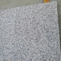 maple red granite paving flamed