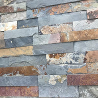 Split Face Tiles, Multicolor Slate Wall Cladding Panels 550x150 ??22.18/m2