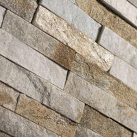 oyster quartz split face 3D mosaic tiles
