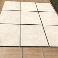 porcelain paving cream 600 x 600
