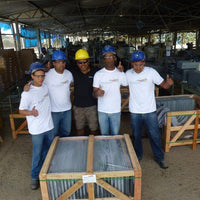 Our team in Brazilian slate quarry