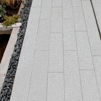 silver grey granite plank linear