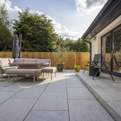 Granite Paving Slabs, Silver Grey Light Grey Stone 900 x 600 ??23.24/m2