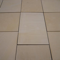 sawn and honed sandstone paving