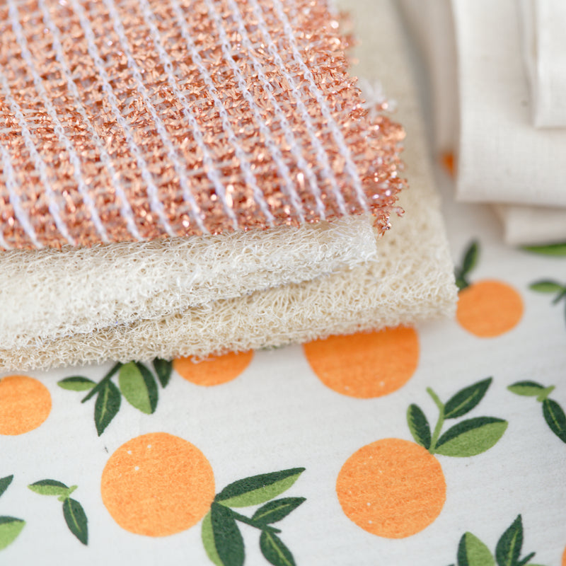 Reusable sponge cloth