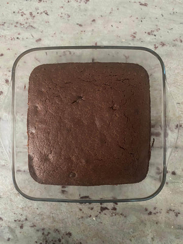 Brownie left out to cool