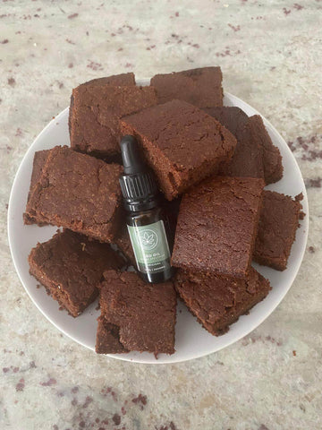 Brownie made with 2000mg oil
