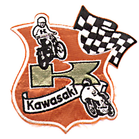 LARGE KAWASAKI RACING PATCH (A6)