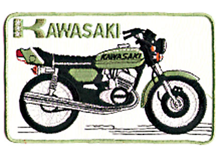 KAWASAKI BIKE SQUARE PATCH (A3)
