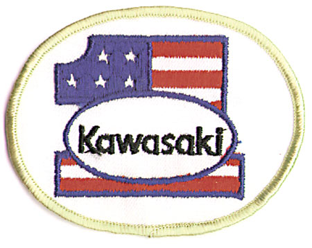 PATRIOTIC KAWASAKI 1 (YELLOW BORDER) PATCH (G9)