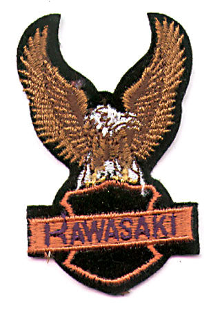 ORANGE/PURPLE KAWASAKI EAGLE PATCH (H2)
