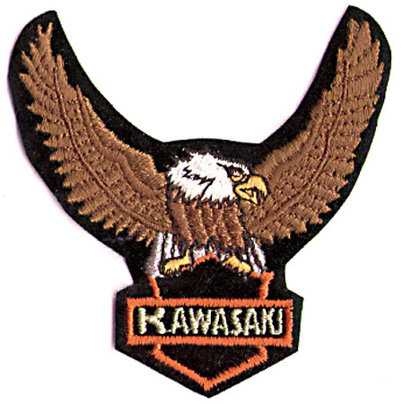 ORANGE/GREEN KAWASAKI EAGLE PATCH (I9)
