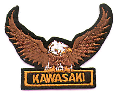 GOLD KAWASAKI EAGLE PATCH (I6)