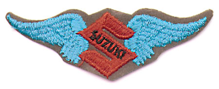 SUZUKI LOGO WITH WINGS PATCH (I1)