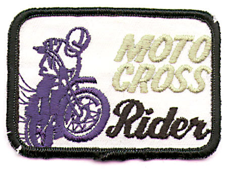 SMALL MOTOCROSS RIDER PATCH (K7)