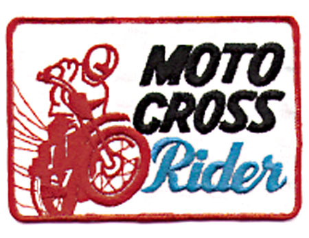 RED MOTOCROSS RIDER PATCH (K3)