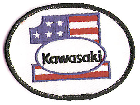 PATRIOTIC KAWASAKI 1 (BLACK BORDER) (M6)