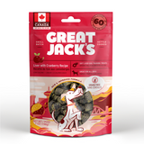 Great Jack's Dog Treats GF Liver & Cranberry 198 g - The Raw Connoisseurs