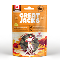 Great Jack's Dog Treats GF Pork Liver & Cheese Big Bitz 56 g - The Raw Connoisseurs
