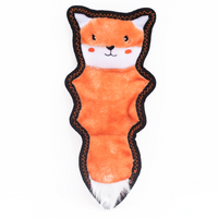 ZippyPaws Z-Stitch Skinny Peltz Squeaker Toy Fox - The Raw Connoisseurs