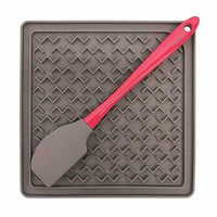 Messy Mutts - Silicone Therapeutic Feeding Mat with Spatula - The Raw Connoisseurs