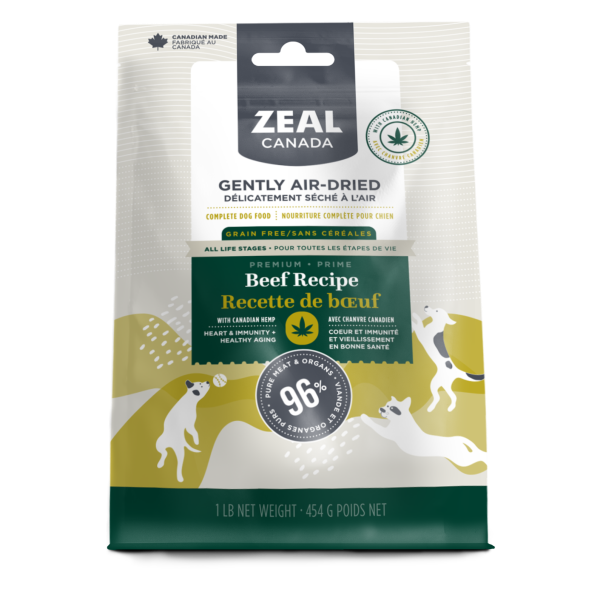 Zeal Canada Dog GF Air-Dried Beef & Hemp 454 g - The Raw Connoisseurs