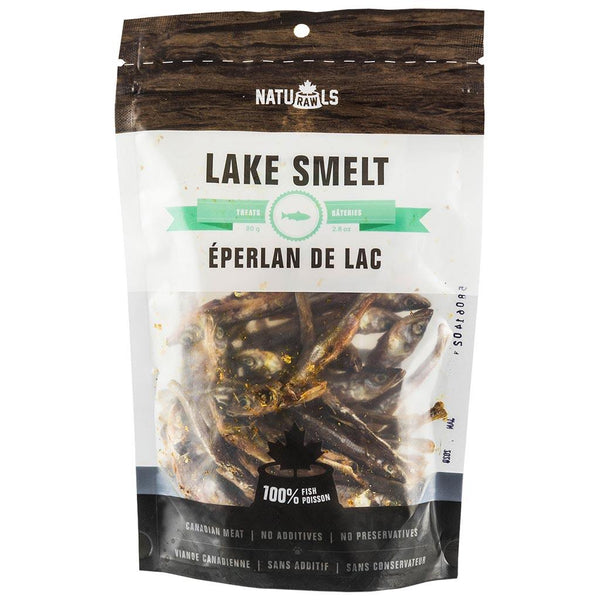 Naturawls Dehydrated Lake Smelt 60g the raw connoisseurs