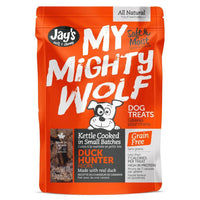 Jay's My Mighty Wolf Duck Hunter Dog Treats 150g - The Raw Connoisseurs