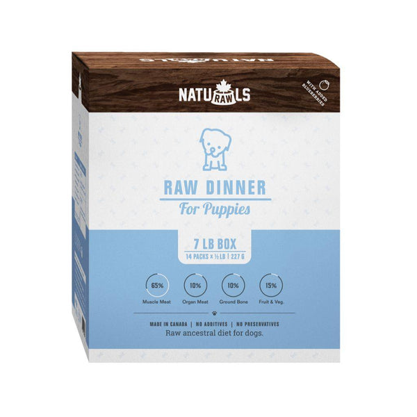 Naturawls Raw Dinner Puppies (7lbs) - The Raw Connoisseurs