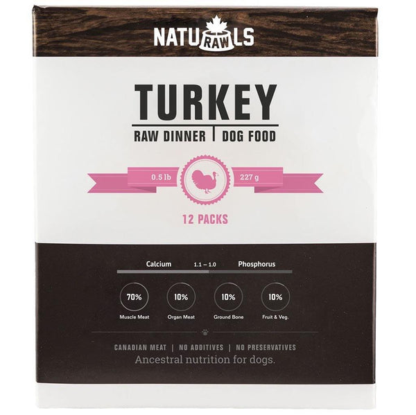 Naturawls Raw Turkey & Veggie (6lb) - The Raw Connoisseurs