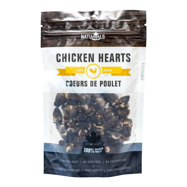 Naturawls Dehydrated Chicken Heart 100G - The Raw Connoisseurs