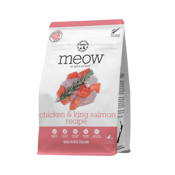 NZ Natural Pet Food Co. Meow Air Dried Chicken & King Salmon Cat Food