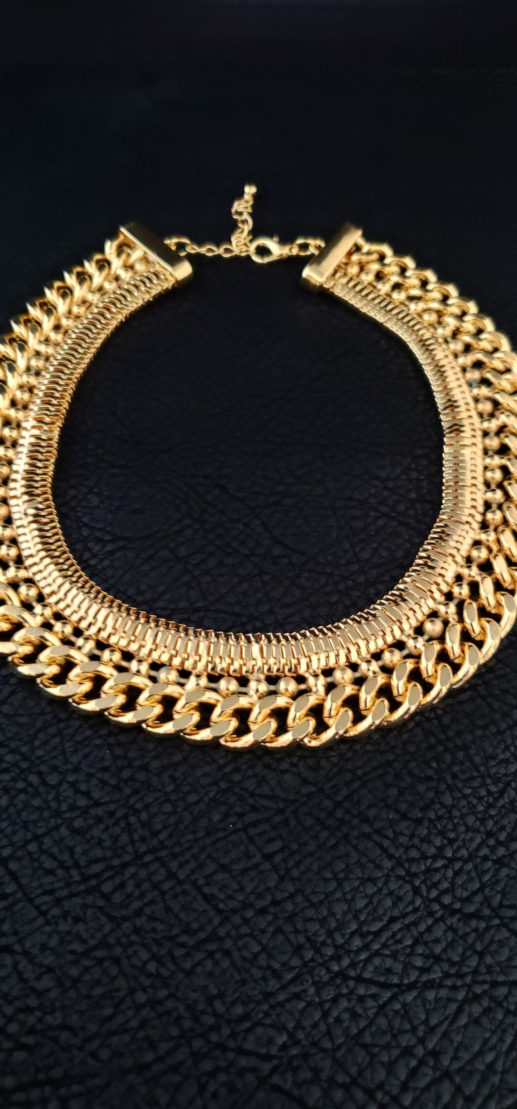 18K Gold Plated Triple Strand Necklace