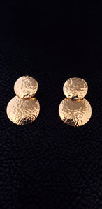 18K Gold Plated Fan Earrings