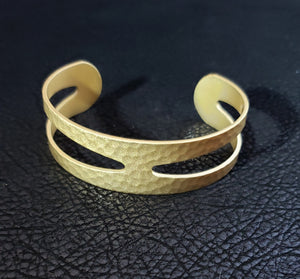 Nya 18K Hammered Gold Plated Bracelet