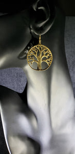 Eve Tree of Life 14K Gold Plated Earrings