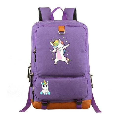 Satchel Purple Unicorn Large Format