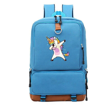 Satchel Blue Unicorn Adult