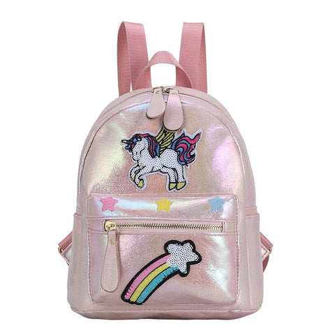 Satchel Unicorn Rainbow Sky Light Pink