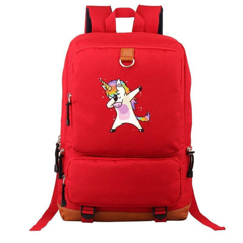 Adult Book Bag Unicorn Red