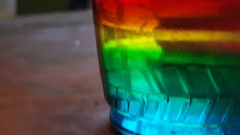 Density Layers of a Rainbow Cup