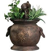 Little Giant Copper Kettle Fountain with Planter 566763