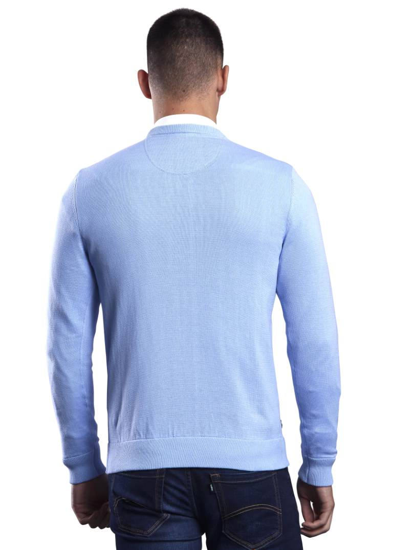 6th Sense Million Dollar V-Neck-Vista Blue