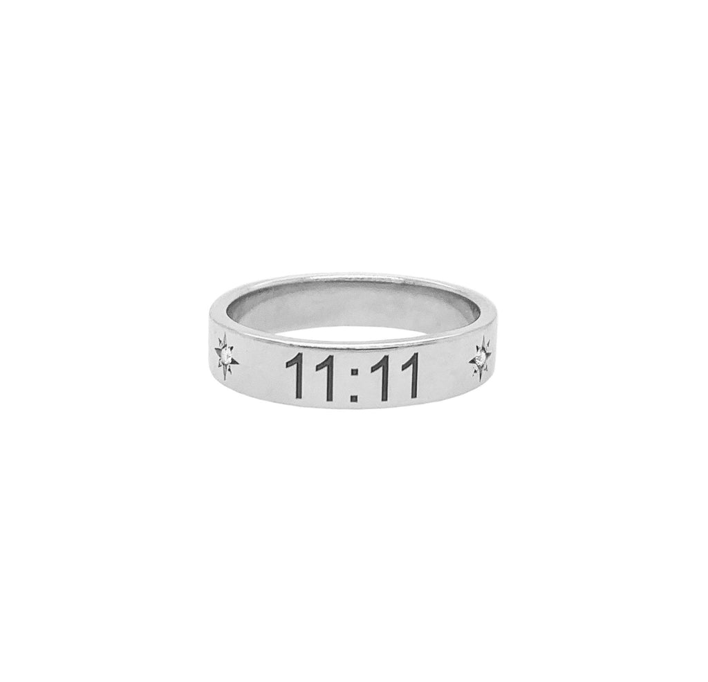 NEW! 11:11 Trust The Universe Band with Star Set Diamonds NEW! 11:11 Trust The Universe Band with Star Set Diamonds
