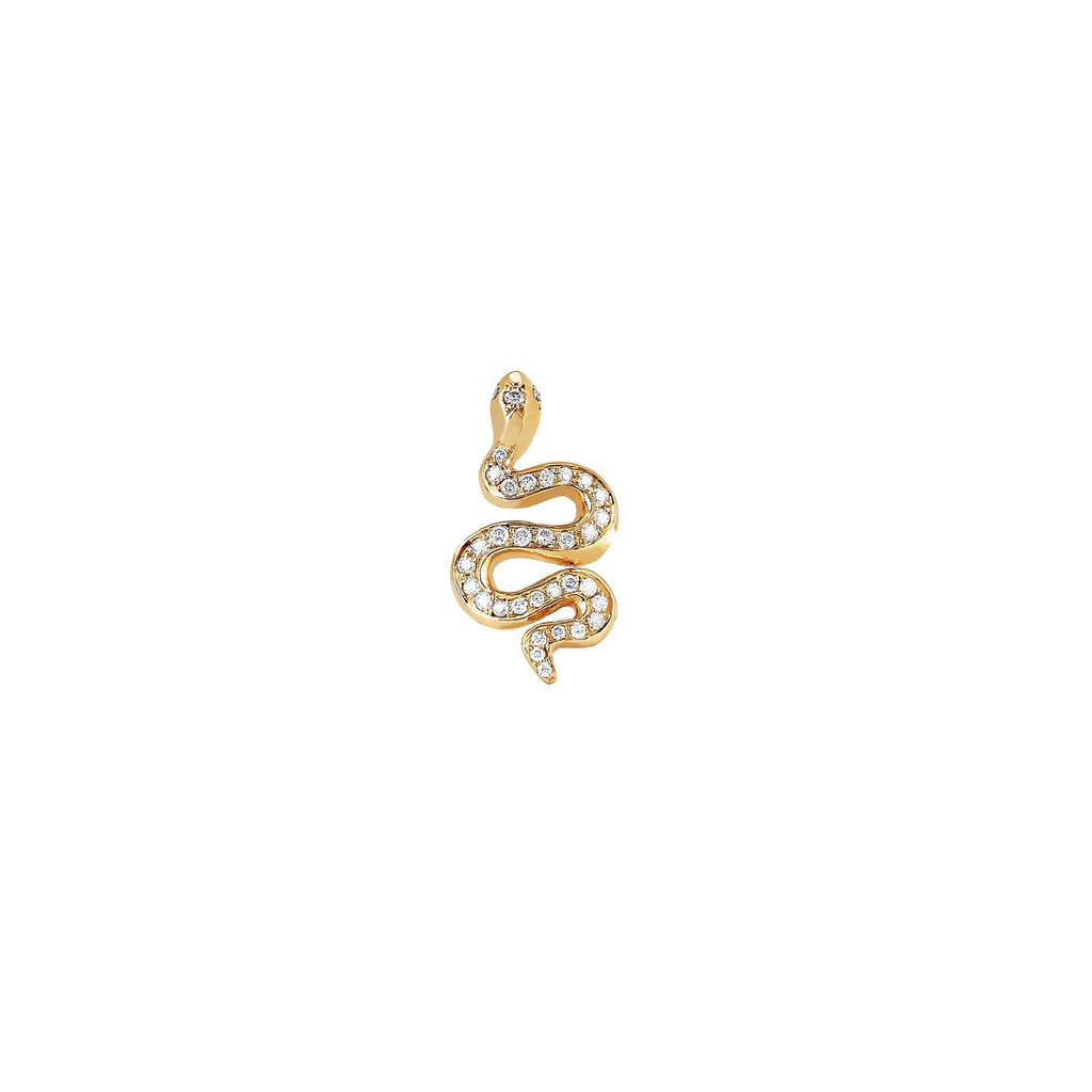 Kundalini Snake Studs with Pavé Diamonds Kundalini Snake Studs with Pavé Diamonds