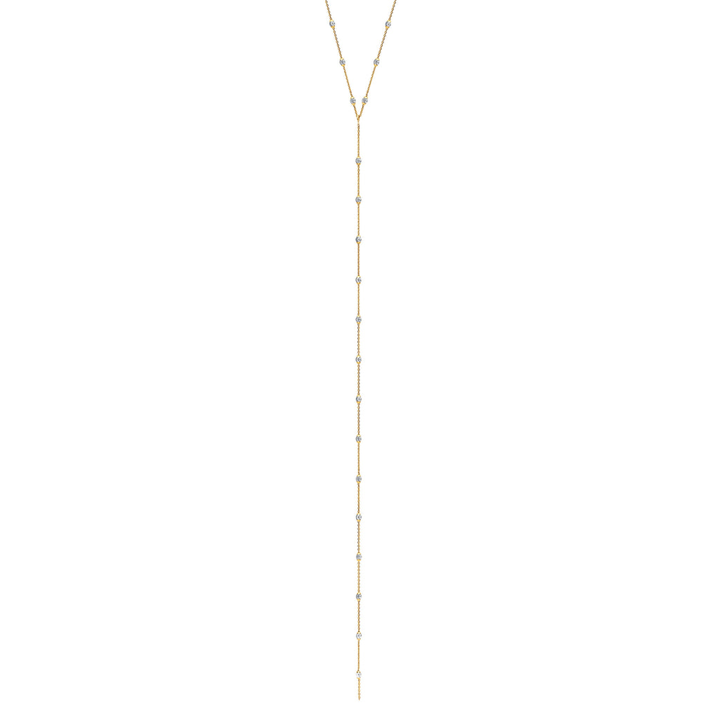 Mooncut Lariat Yellow Gold