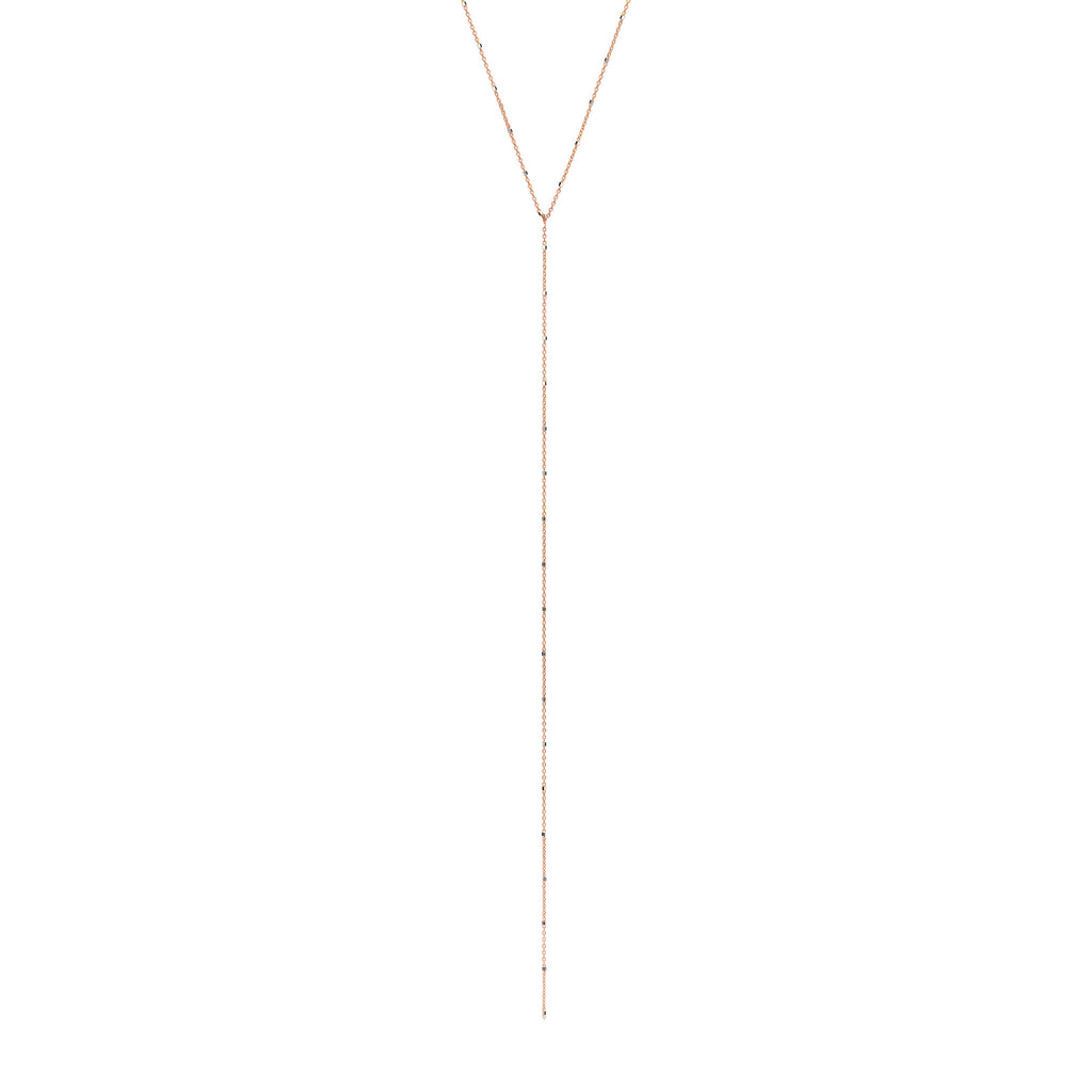 Twinkle Lariat Rose Gold