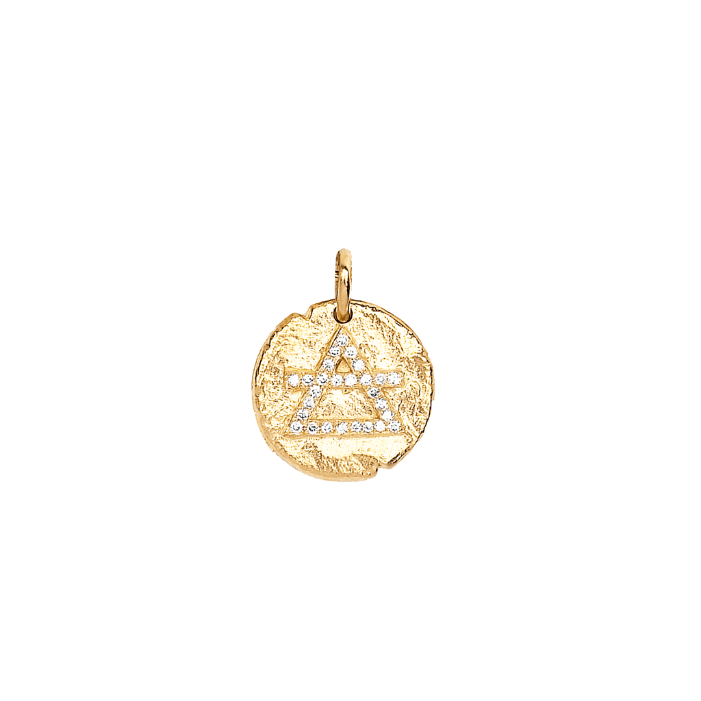 Baby Air Element Alchemy Coin Yellow Gold