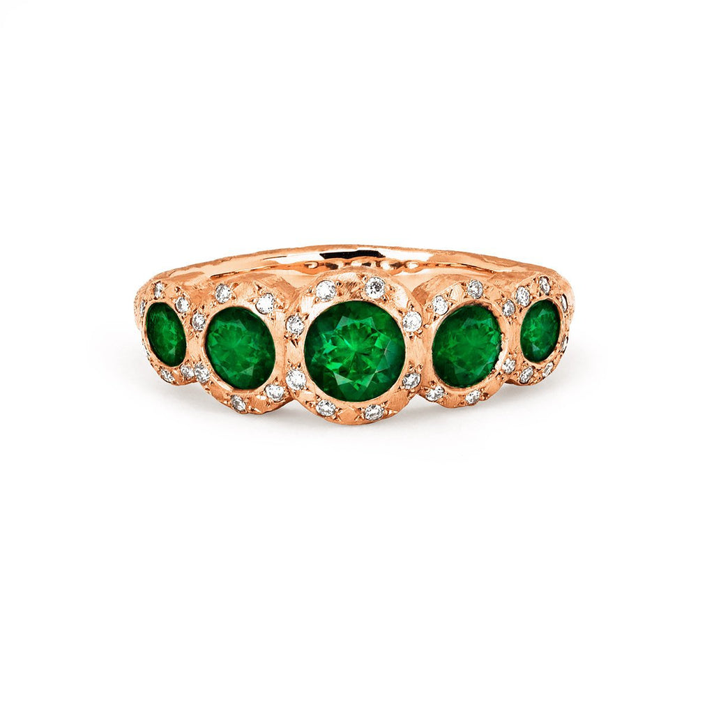 NEW! 5 Emerald Queen Ring NEW! 5 Emerald Queen Ring